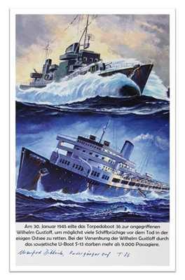 "Kunstdruck Torpedoboot 36 / ""Wilhelm Gustloff"""