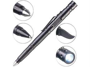 5in1-Tactical Pen Kugelschreiber, LED, Glasbrecher