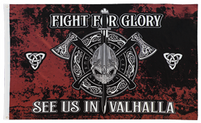 Fahne Fight for Glory - See us in Valhalla