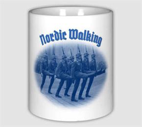 Keramiktasse/ Kaffeepott - Nordic Walking