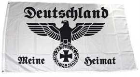 Fahne Deutschland meine Heimat weiß