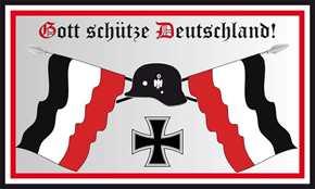Fahne Gott schütze Deutschland!