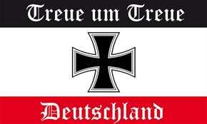 Fahne Treue um Treue - Deutschland