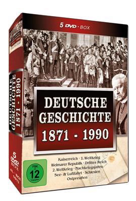 Deutsche Geschichte - 1871-1990, 5 DVD-Box