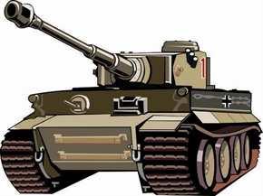 Aufkleber Tiger Panzer