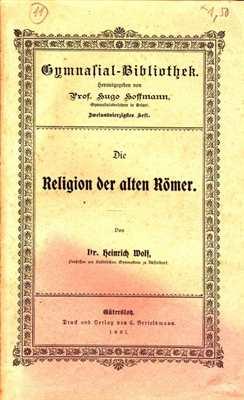 Wolf / Hoffman: Die Religion der alten Römer