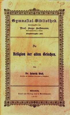 Wolf / Hoffman: Die Religion der alten Griechen