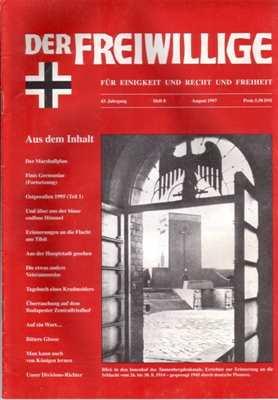 Munin Verlag (Hrsg.): Der Freiwillige August 1997