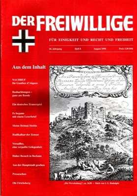 Munin Verlag (Hrsg.): Der Freiwillige August 1998