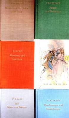 Konvolut: Arndt, Goethe, Mörike, Raabe, Fontane