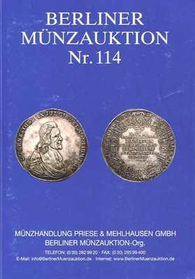 Berliner Münzauktion Nr. 114