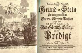 Grund-Stein Frauenkirche Dresden 26. August 1726