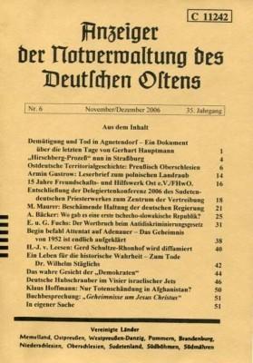 Anzeiger der Notverwaltung des Deutschen Ostens